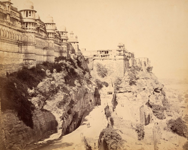 Gwalior; The Fort, the Palace and principal Entrance<br />