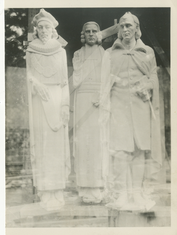 Statues on Exterior of the Chapel; Duke University Archives