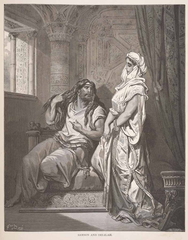 Samson and Delilah Illustrated by Gustave Doré