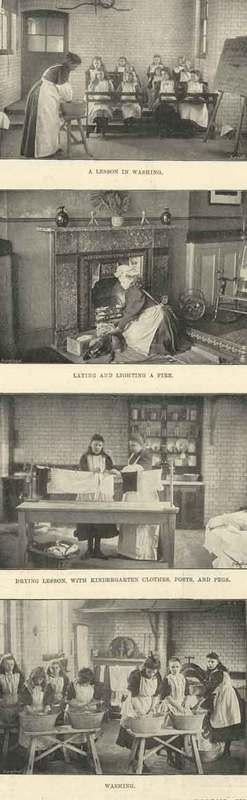 Image of housewifery lessons under the London School BoardWikimedia