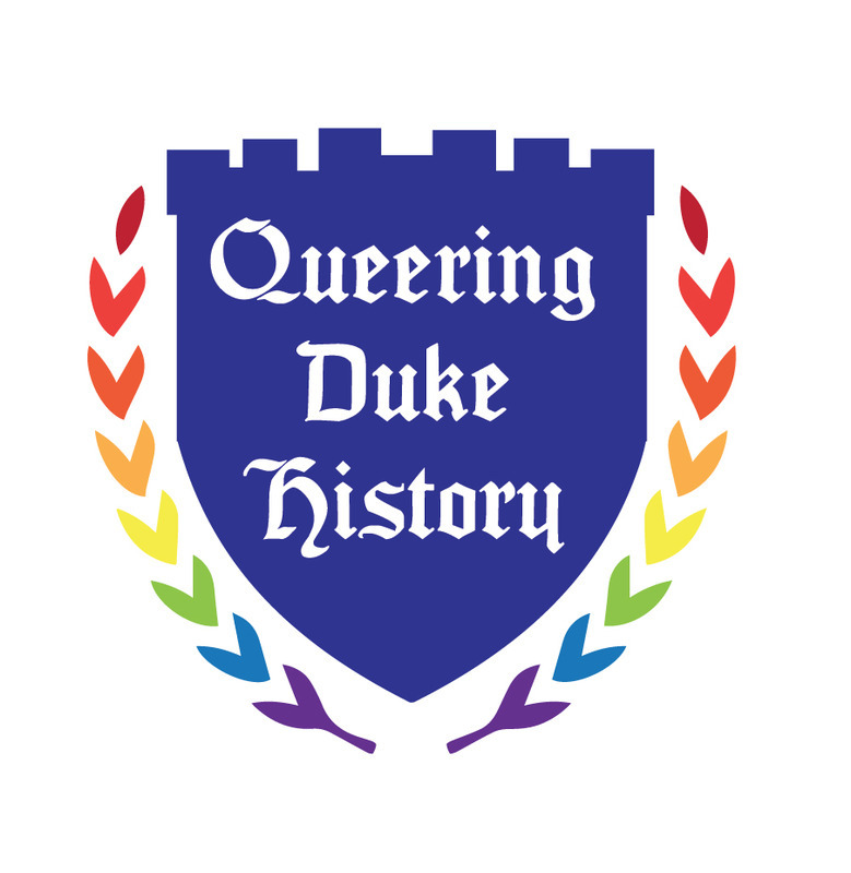 Logo created for exhibit and semester long commemoration of Duke Queer History, 2014.