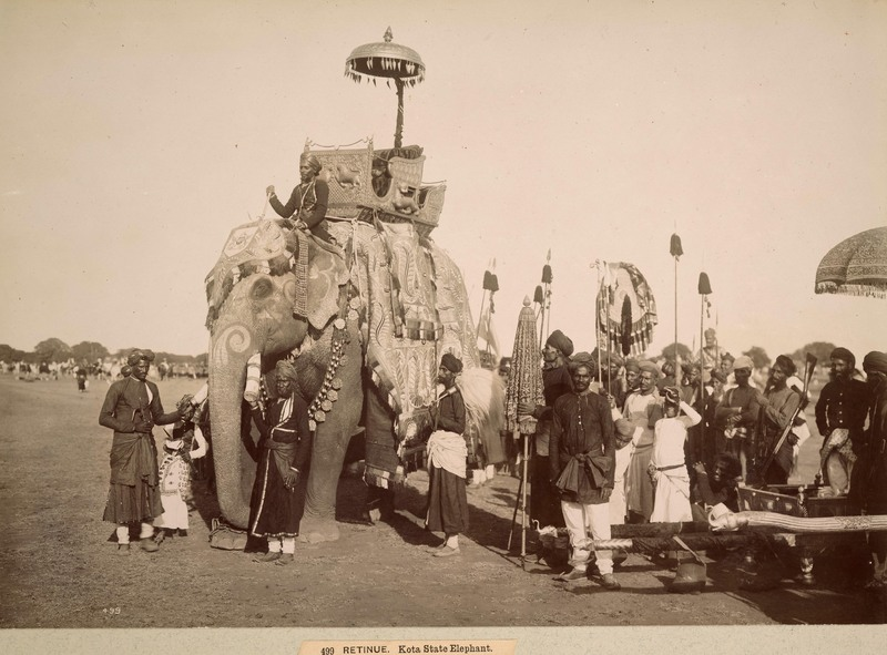 Retinue, Kota State elephant<br />