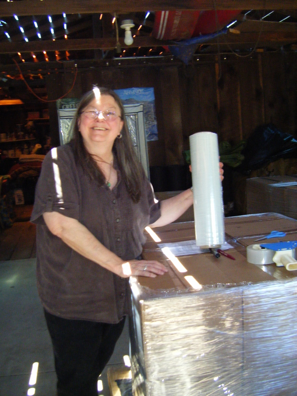 Dorothy Allison with Boxes