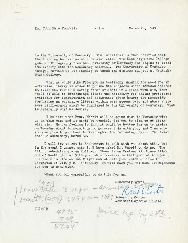NAACP, Sweatt v. Painter Case, 1949 (2)