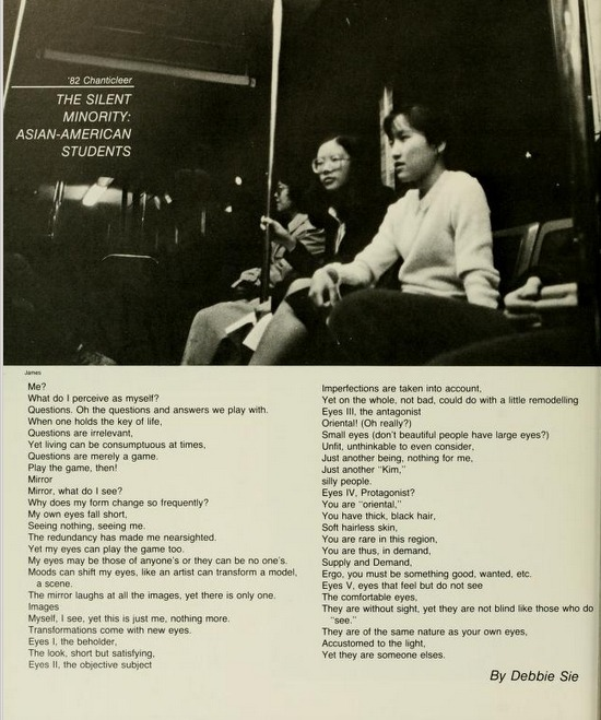 """The Silent Minority: Asian American Students"" from the 1982 Duke Chanticleer"