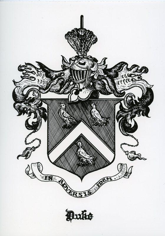The Duke family crest.