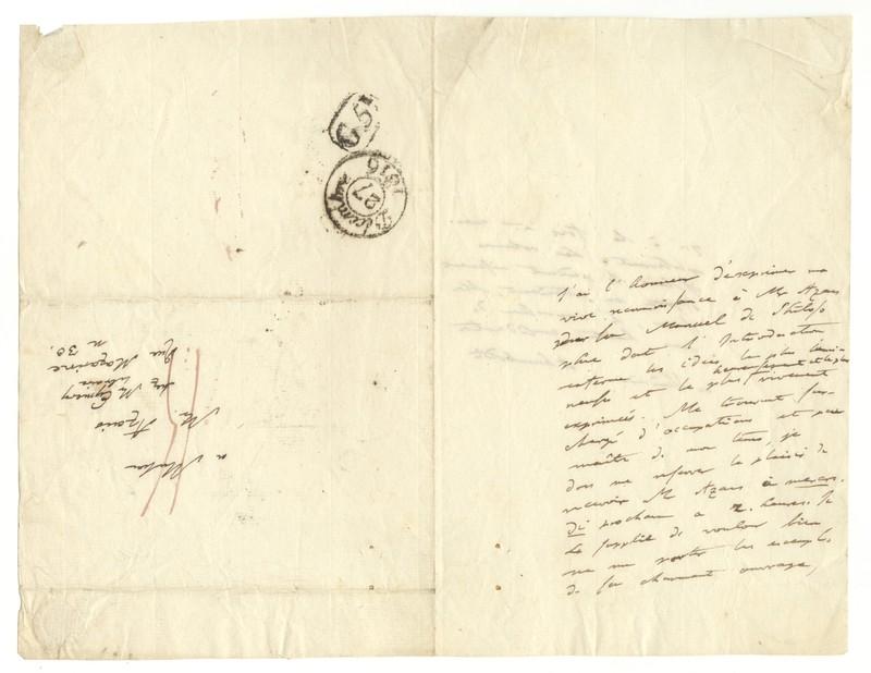 Letter to Pierre Hyacinthe Azais