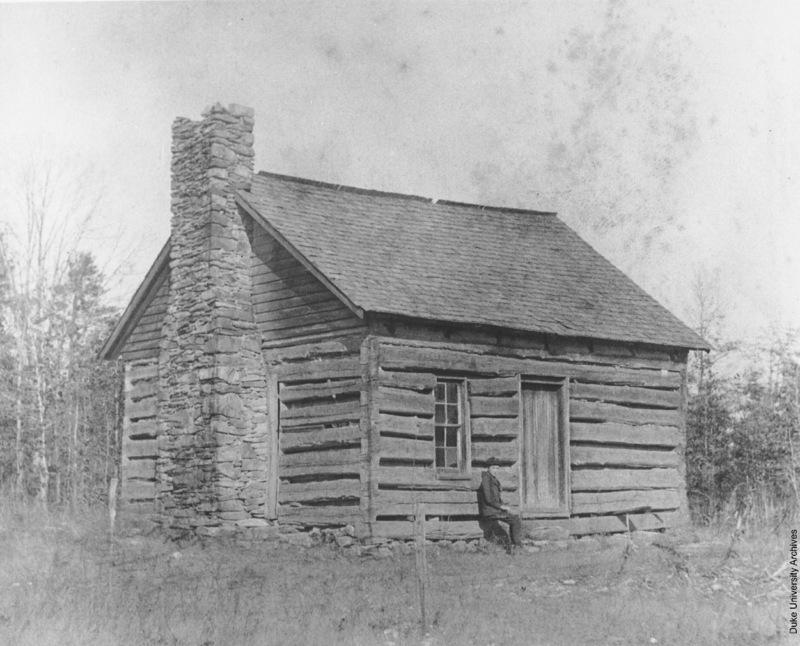 Photograph of Brown's Schoolhouse in Randolph County, North Carolina.