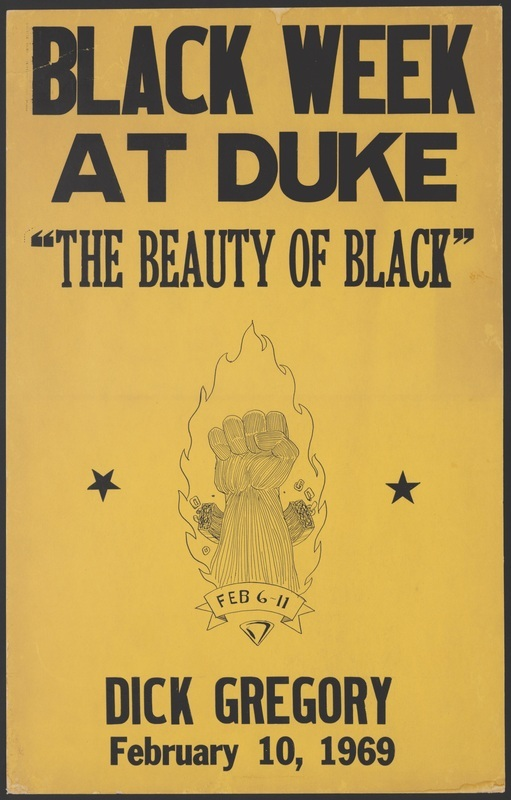 Poster advertising Black Week at Duke in February, 1969.