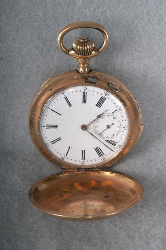 The interior of James B. Duke's pocket watch.