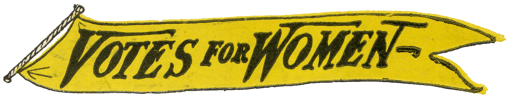 Yellow Votes for Women Banner