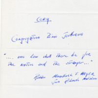 Letter from Carecen and Marshall's response, April 6, 1990.