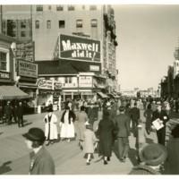 St. James St. and Boardwalk. [&quot;Maxwell Did It!&quot; billboard], October 4, 1936.<br /> Maxwell No. 4196<br /> ROAD No. XXX3351