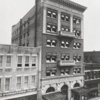 North Carolina Mutual Home Office and Mechanics and Farmers Bank Building, which is looking northeast on Parrish Street.