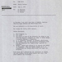 Hispania Records Box 1 Folder: Memos to Tony Ruiz