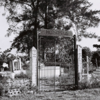Entrance to the cemetary where Castro family members are buried, Birán, Holguín Province, December 1963