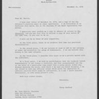 Duke University Archives, Office of President: Terry Sanford, Box 123, 1974