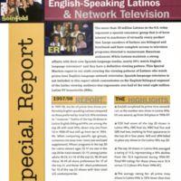Douglass Alligood Papers Box 2 Folder: English-Speaking Latinos + Network Television Vol. 4/No. 1