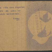 """Card, Devoto Prison, """"Censurada"""""""