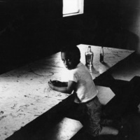 The cook's boy, mushroom farm, Kennett Square, PA 1981
