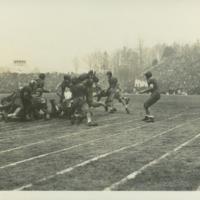 Game action during 1942 Rose Bowl game