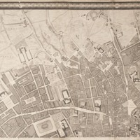 """Section 2 of """"A plan of the cities of London and Westminster, and borough of Southwark, with the contiguous buildings"""" by John Rocque, 1746-1749."""