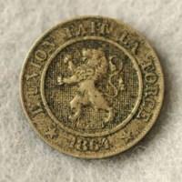 Belgium coin-front view-1864