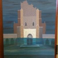 A painting by Jennifer Alspach, Duke University, 2013.