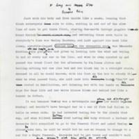 Type script. Reynolds Price papers, David M. Rubenstein Rare Book & Manuscript Library.
