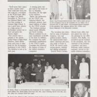 Article from The Whetstone about a receiption held at the N.C. Mutual office for singer Lou Rawls, held in conjunction with United Negro College Fund Telethon.