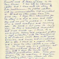 Letter. Reynolds Price papers, David M. Rubenstein Rare Book & Manuscript Library
