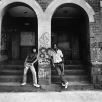 Angel and Lenny on Ward Street, Hartford, CT 1982