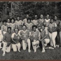 Team photo of an N.C. Mutual sports team, possibly baseball or softball.