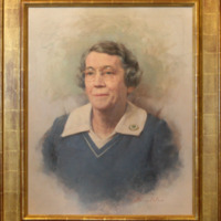 &quot;Evelyn Harrison, Oil on Canvas, 24&quot;&quot; x 30&quot;&quot;, by Steven Polson, gift to the Lilly Library from Woman&#039;s College graduates<br />