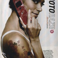 """MotoRazr"" People Magazine December 2006. Stuart Elliott Collection. Box 36. Folder 1."