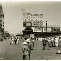 Steel Pier. [Noxzema spectacular, daytime], June 7, 1936.<br /> Maxwell No. 3962<br /> ROAD No. XXX3131