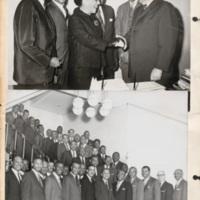 N.C. Mutual employees with Chicago Mayor Richard Daley