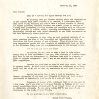 Colored Mail Order Corporation of America letter