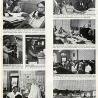 Employees and their workplace showcased in Ebony magazine, 1955