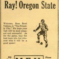 M.E.H. Hardware Rose Bowl ad, 1941