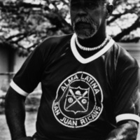 Johnny Matias, second generation Hawaiian- Puerto Rican, coach of the San Juan Ricans, Honolulu, HI 1980