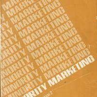 """Cover."" Minority Marketing. Chicago: Crain, 1980. Print."