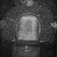 Aerial view of Duke Stadium during 1942 Rose Bowl.