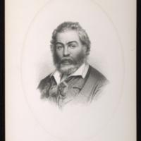 "Schoff. ""Whitman Steel Engraving,"" 1860? Steel engraving reproduction. Walt Whitman Papers, Box 12, Folder 22."