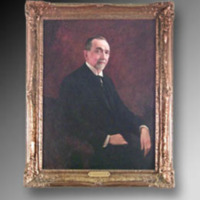 &quot;Benjamin N. Duke, Oil on canvas, 29&quot;&quot; x 40,&quot;&quot; by C. S. Wiltschek<br />