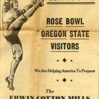 Erwin Mills Rose Bowl ad, 1941