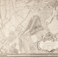 """Section 9 of """"A plan of the cities of London and Westminster, and borough of Southwark, with the contiguous buildings"""" by John Rocque, 1746-1749."""