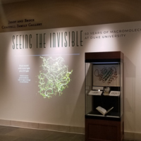 The main wall with the exhibit title