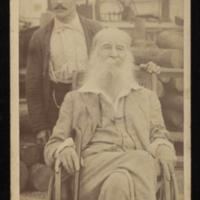 "Dr. John Johnston, ""Walt Whitman with Warren Fritzinger,"" 1890. Photograph, reproduction. Walt Whitman Papers, Box 12, Volume 14.&lt;br /&gt;<br />"