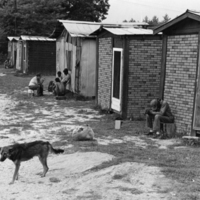 Migrant camp, near Asheville, NC, 1979<br /> <br /> John Moses Photographs<br /> gelatin silver print